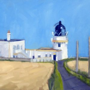 Catterline Lighthouse Art Print Pauline Patrick